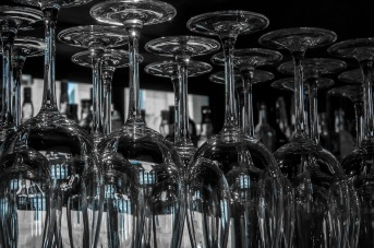 Blue - Stacked Wine Glasses