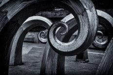 Breakers - Metal Sculpture, Ballard Locks, Seattle