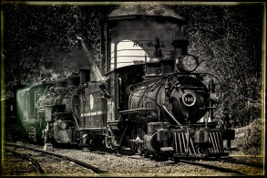 Engine 346-DRG - Locomotive and Cars
